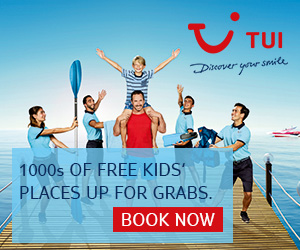 TUI Free Child Places 2018 Holidays