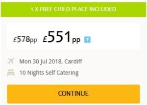 Thomson Free Child Places Summer 2018