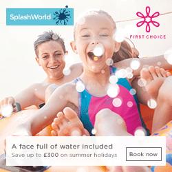 First Choice Splashworld Free Kids Holidays 2018 / 2019