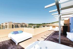Holiday Village Majorca Balcony with sunbed