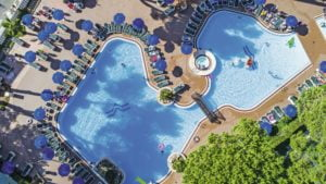 TUI BLUE Avenida Suites Top down view of the pool