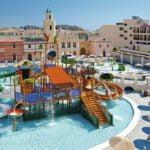 Splash park and hotel