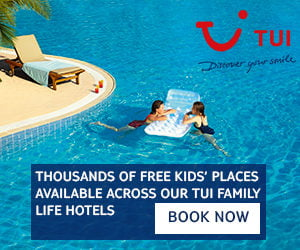 TUI Family Life Hotels Free Kids' Places 2019 / 2020 Available