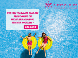 SAVE £100 off First Choice Short and Mid Haul - get code SALE100