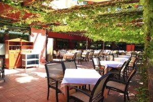 Villa Romana in Salou, Costa Dorada, Spain al fresco dining area