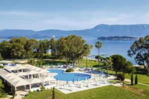 TUI BLUE Kerkyra Golf Hotel pool and view of the sea