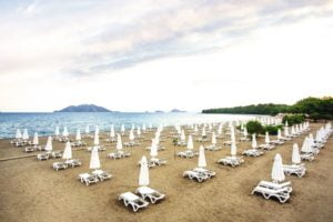 TUI Sensatori Resort Barut Fethiye beach with sunbeds