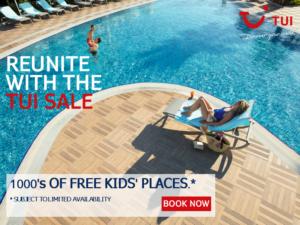 TUI 1000s free kids places 2019
