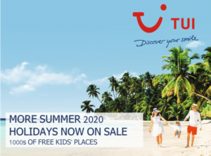 TUI Free kids places Summer 2020